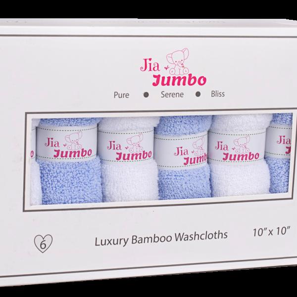 Ocean Blue Bamboo Baby Washcloth Box