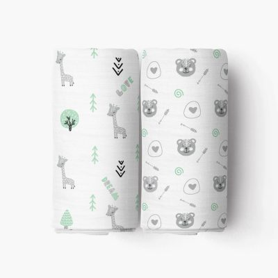 Lovely Dream Crib Sheet_Green Forest