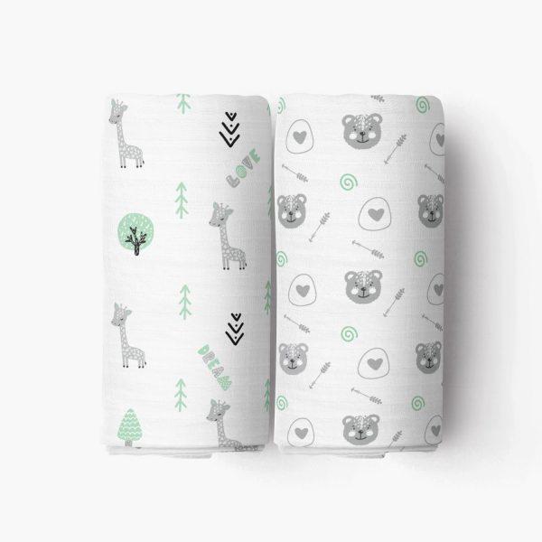 Lovely Dream Crib Sheet_Green Forest