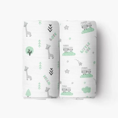 Mommy and Me Crib Sheet_Green Forest