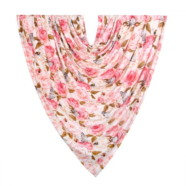 Rosy Bamboo Swaddle Blanket Hanging